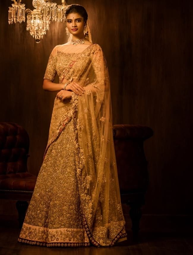 Stylist Look In Indian Wedding Lehenga Choli