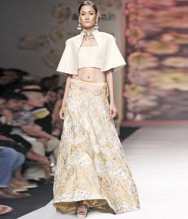 Unique fashion style in part wear lehenga choli