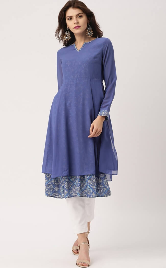 cotton overlay kurtas for ladies online