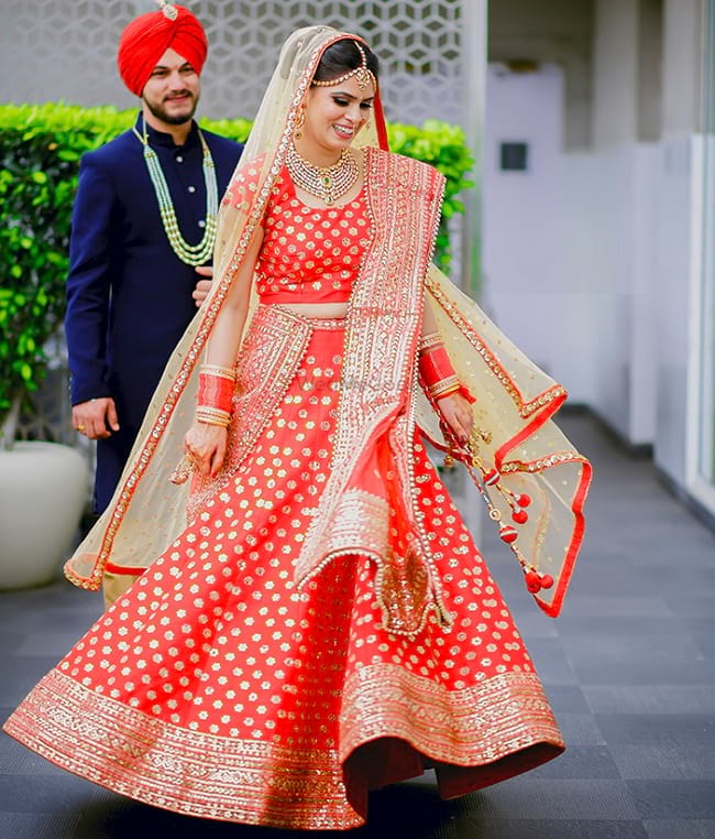 Punjabi bridal wedding lehenga Online With Price