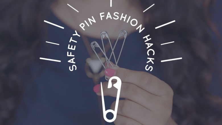 safety pin fashion hacks and tricks