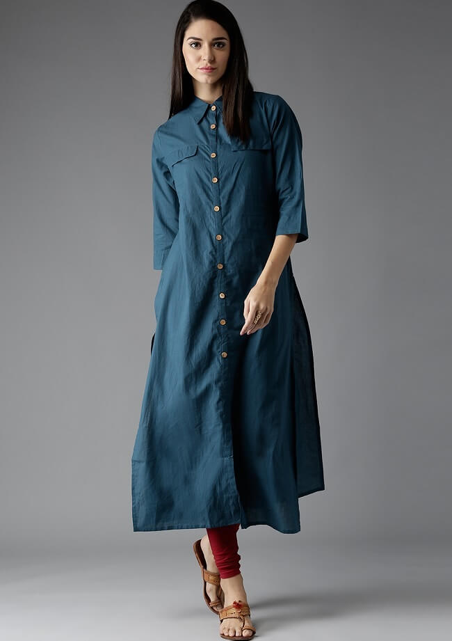 denim cotton lengthy kurtis
