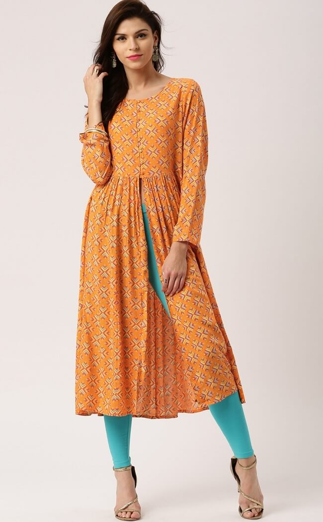 cotton slit kurti online shop