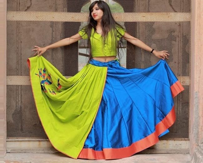 graba choli patterns, chaniya choli for navratri