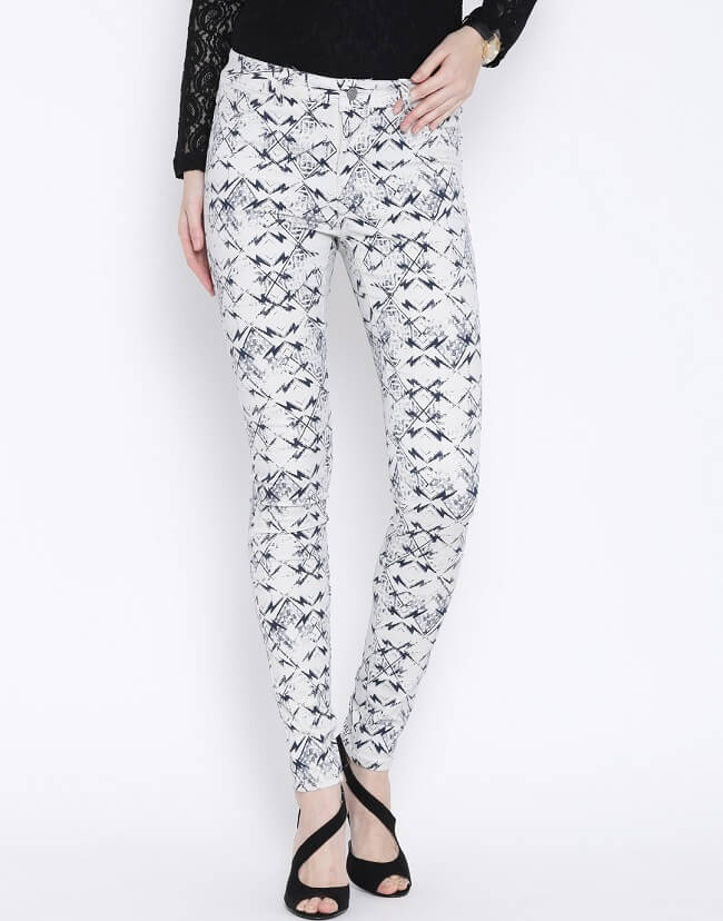 vero moda wonder white printed jeggings online