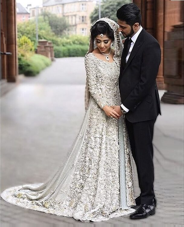 Image result for silver lehengas brides