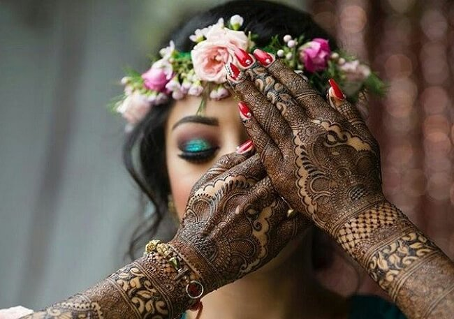 hindu wedding mehendi function photography poses