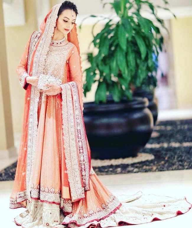 bridal pakistani lehenga choli designs