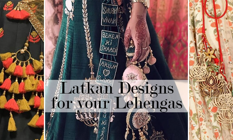 Creative designer wedding latkans for bride to wear with lehenga and dupatta