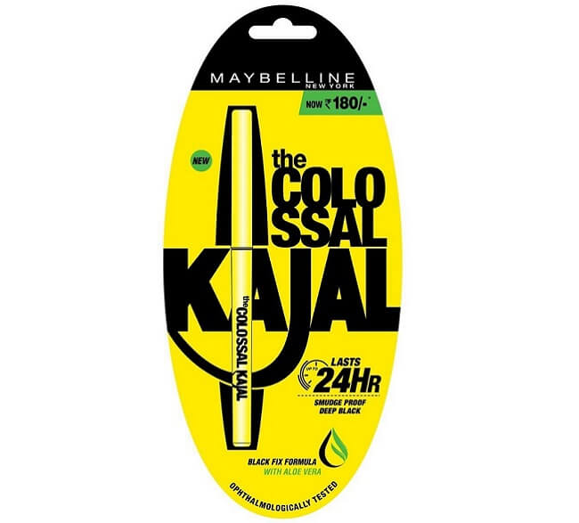 Maybelline water proof kajal products