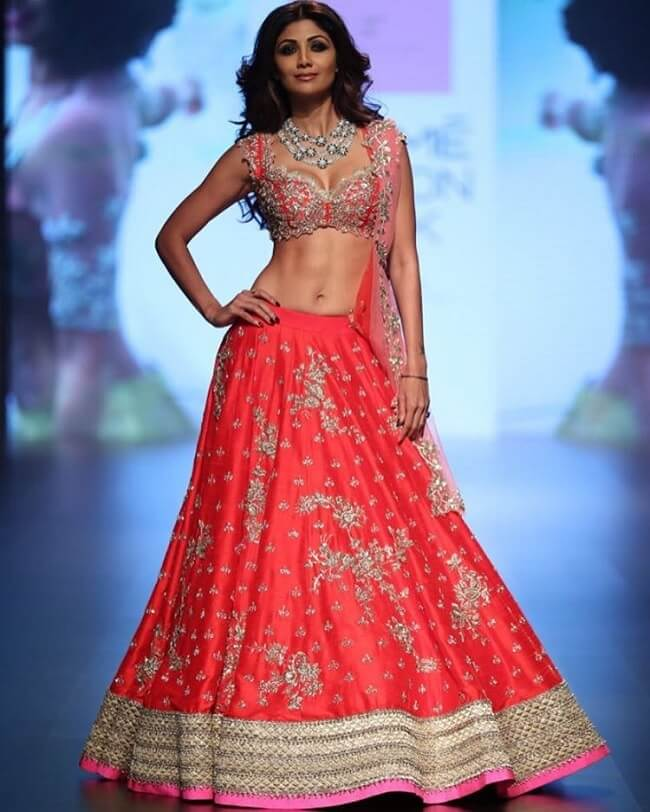 red embroidered indian bridal collection