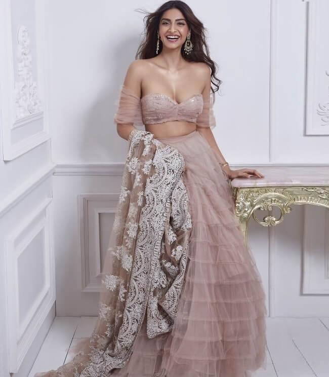 dusty pink best designer wedding lehengas