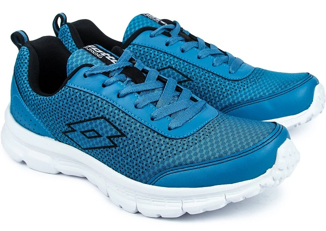 Lotto Blue Mesh Lace Up Running Shoes