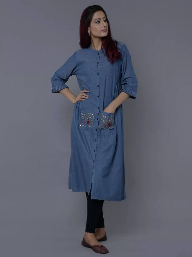 kurti designs for jeans online