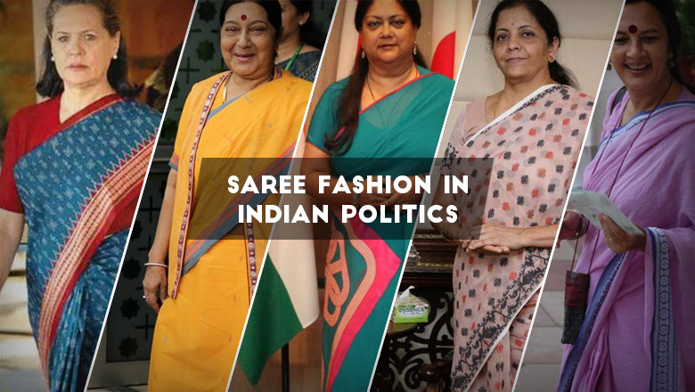 top Indian women politicians' saree style