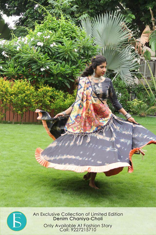 latest collection of denim ghagra choli designs with price in india