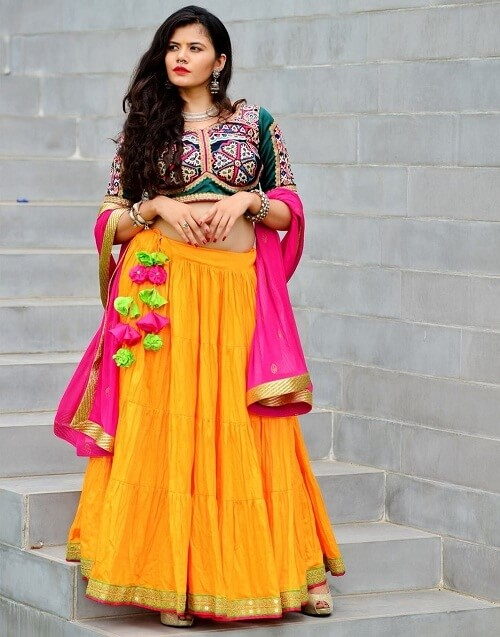 new and simple chaniya choli for navratri