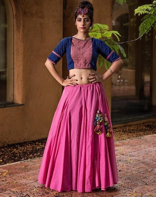 new navratri printed chaniya choli with price from surat suppliers