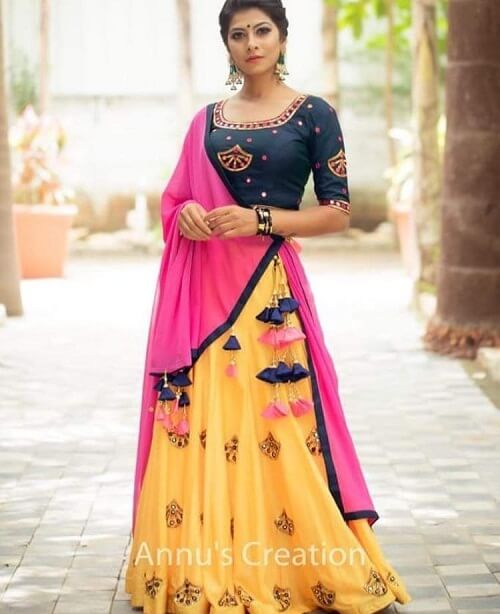new designs of navratri chaniya cholis from Ahmedabad designers