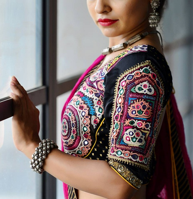 Latest designs of navratri blouse from surat designers