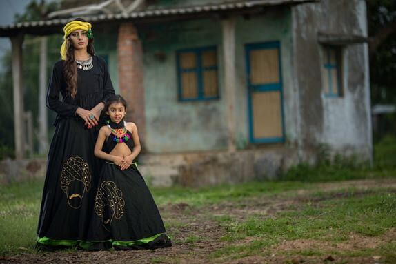 amazon chaniya choli of 13 year girl and her mother