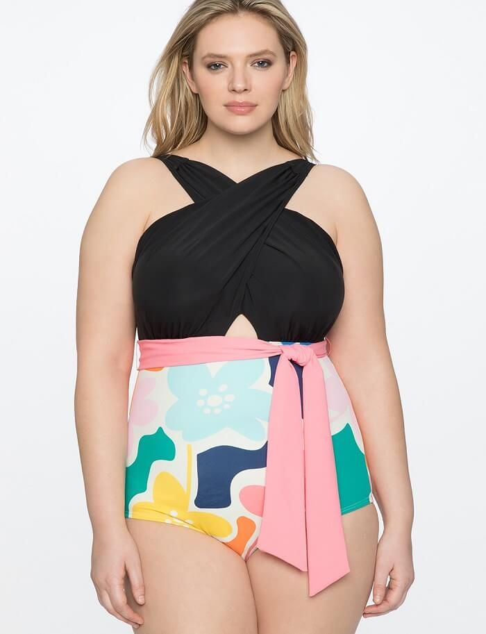 plus size swimsuit with underwire