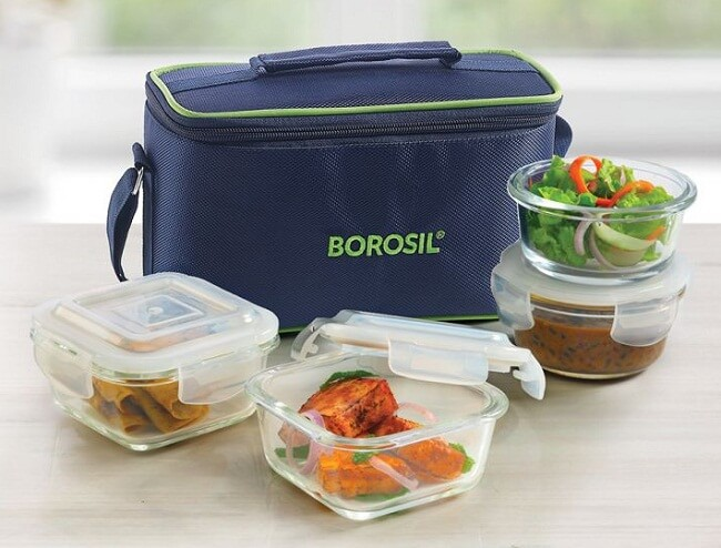 plastic lunch box and water bottle set price in india for office