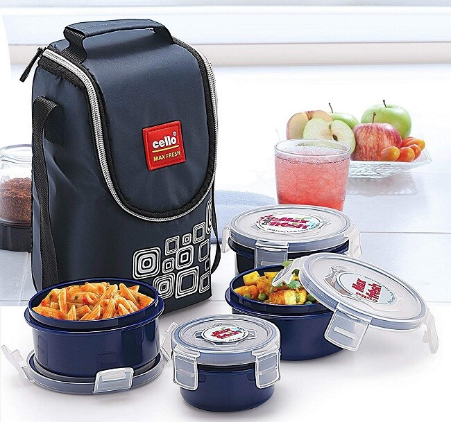 stainless steel lunch box with carry bag