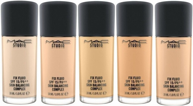 mac studio fix foundation available in various colour shades for all skin