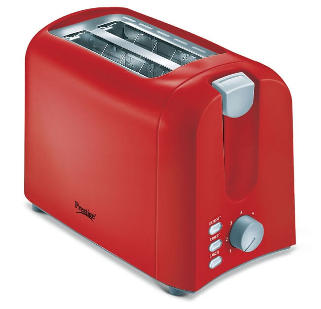 2 slice long slot stainless steel toaster