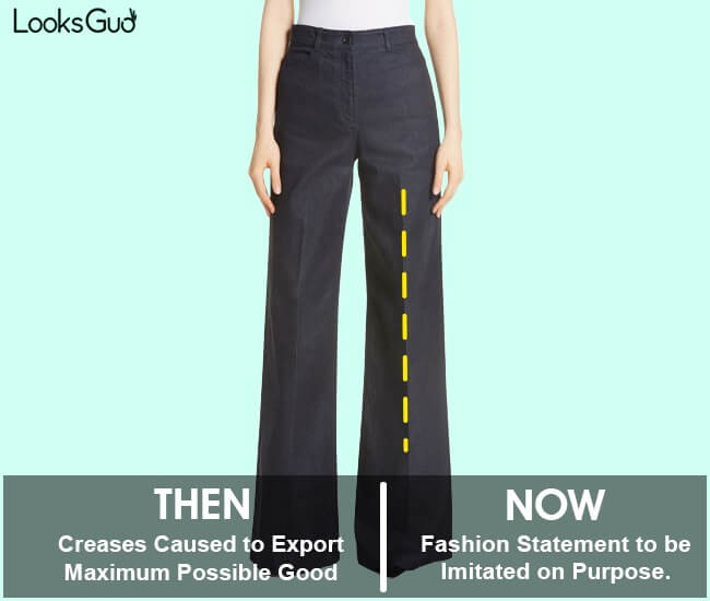 how to make creases on pants