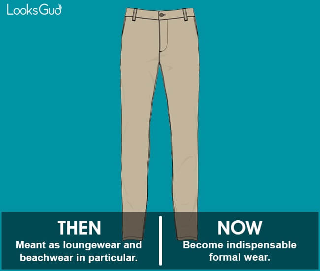 trousers history timeline