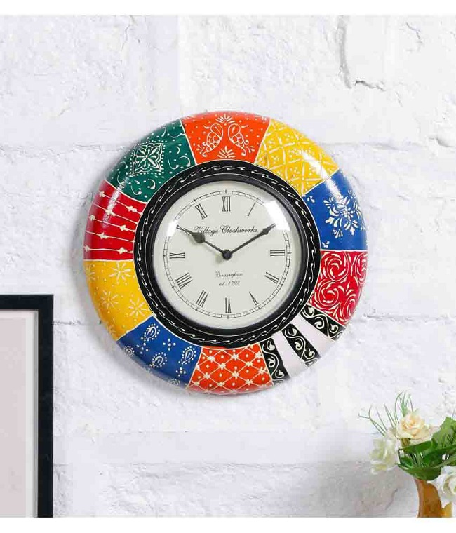 latest unique designer silent wall clock in india for online shopping