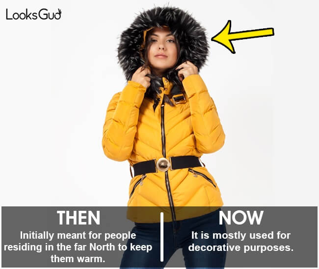 fur on hood jackets invention