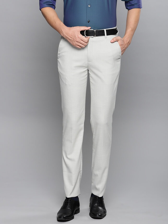 mens formal trousers with elasticated waist