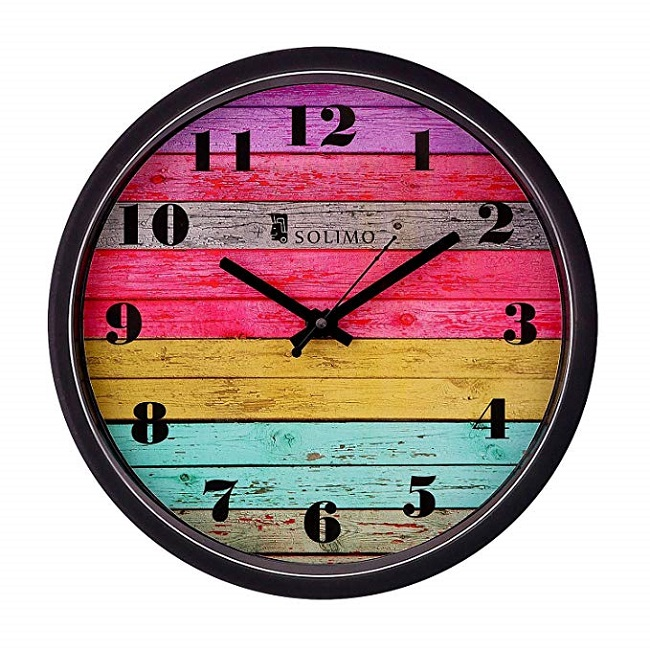 Funky wall clock for bed room