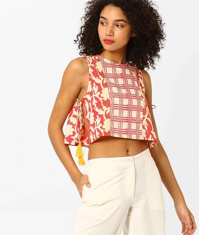 crop top pattern blouse