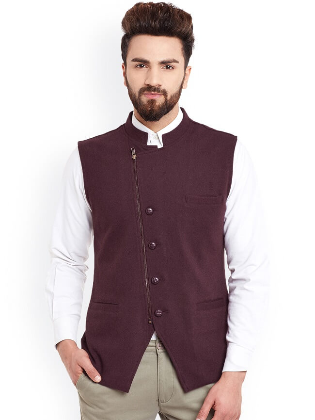 buy hypernation men's cotton nehru jacket online