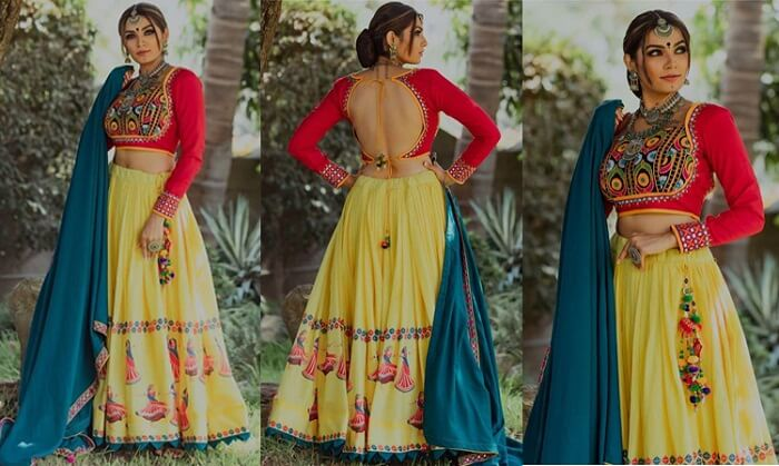 simple ghagra choli designs with price