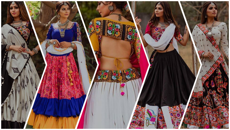 latest ghagra choli blouse designs for garba