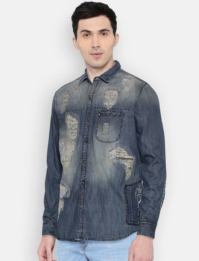 blue denim shirts online lowest price in india