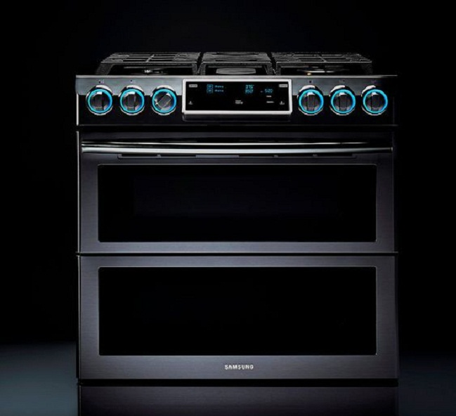 built in double gas oven with gas grill