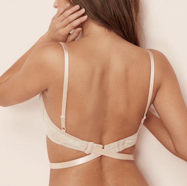 low back converter for strapless bra