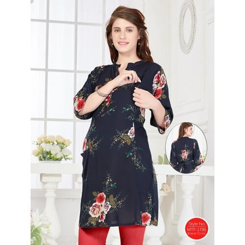 Most trusted maternity feeding kurti set with zip online