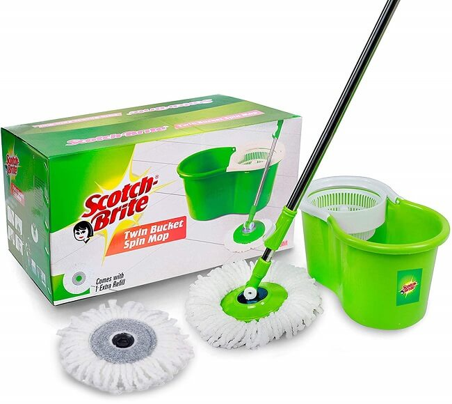 Scotch-Brite 2-in-1 Bucket with Spin Mop