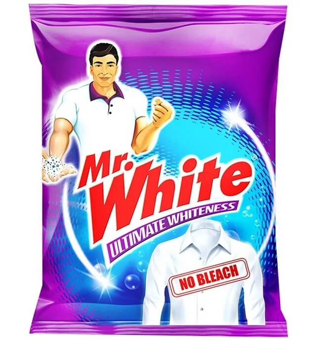 mr white detergent powder with container