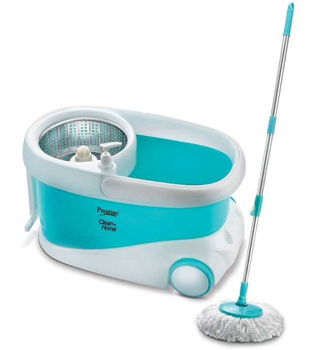 Prestige Stainless Steel Spinner Magic Mop with Bucket