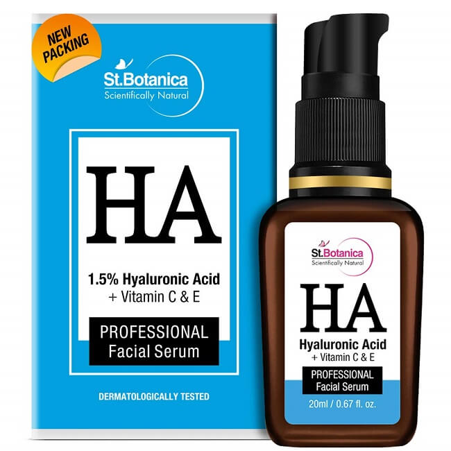 St.Botanica Hyaluronic Acid with Vitamin Serum for Dark circles & Face Wrinkles