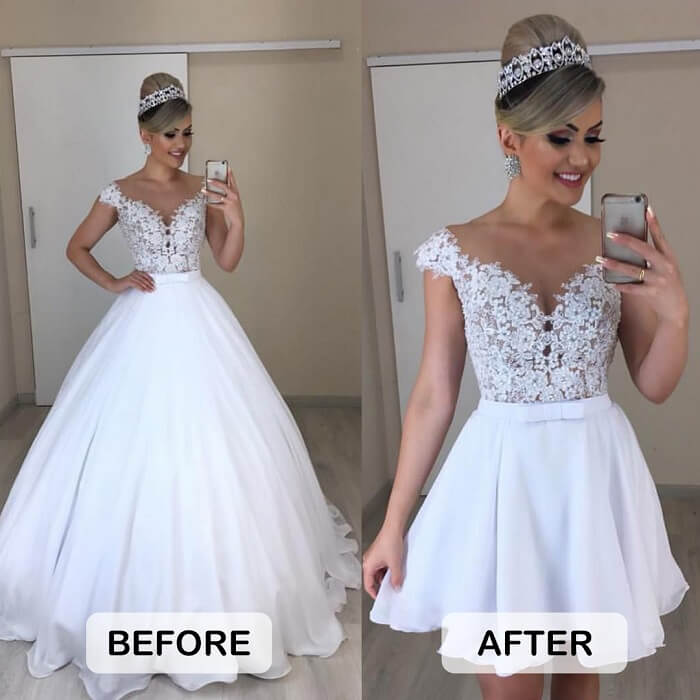 most common wedding dress alterations