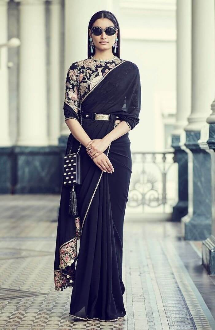 long blouse with belt